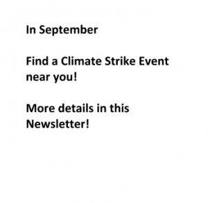 Find a Climate Strike Event near you!